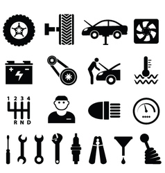 Mechanic workshop vector image