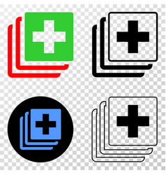 medical data eps icon with contour version vector image