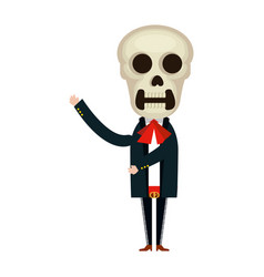 mexican mariachi skull character vector image