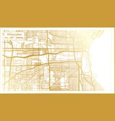 Milwaukee wisconsin usa city map in retro style vector