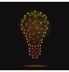 modern atomic bulb vector image