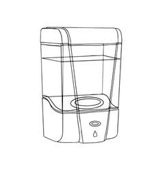 Modern wall automatic liquid soap dispenser close vector