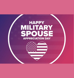National military spouse appreciation day holiday vector