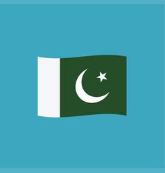 pakistan flag icon in flat design vector image
