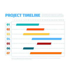 project schedule agenda dates ui interface for vector image