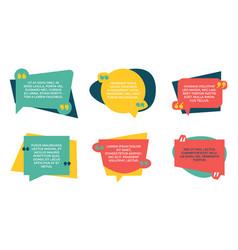 quotation box quote color shapes speech bubbles vector image