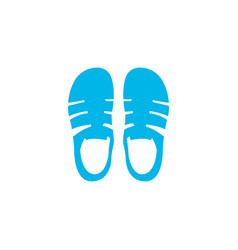 sandals icon colored symbol premium quality vector image