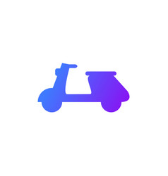 Scooter delivery icon vector