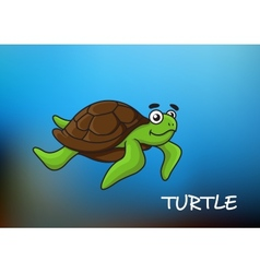 Sea turtle character vector image