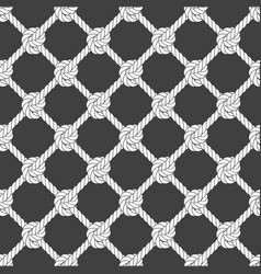 Seamless diagonal rope mesh - rope grid pattern vector