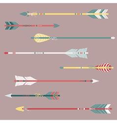 set colorful ethnic arrows vector image