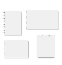 set of spiral notebook templates vector image