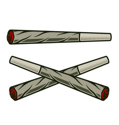smolder joints or cigarettes with marijuana vector image