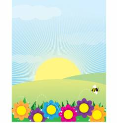 spring background vector image