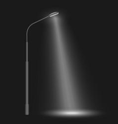 Street row led lights vector