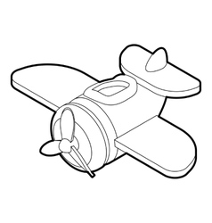 Toy plane icon outline style vector