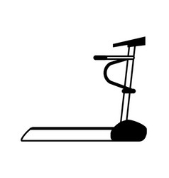 Treadmill machine fitness icon image vector