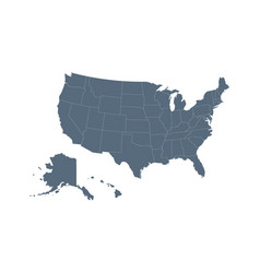 Usa map flat style - stock vector