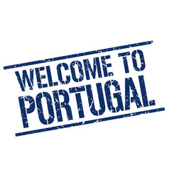 Welcome to portugal stamp vector