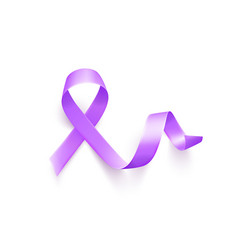 world epilepsy day march 26 realistic purple vector image