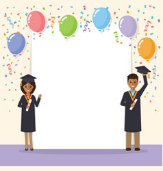 african graduation students celebration vector image