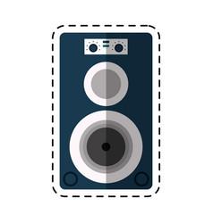 cartoon musical speaker audio stereo vector image