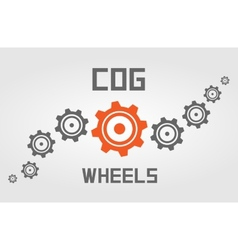 Cog wheels background vector image