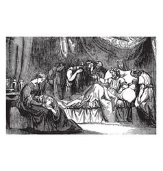 mathathias laments the defilement of jerusalem vector image