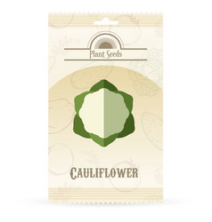 pack of cauliflower seeds icon vector image