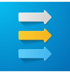 paper arrows on the blue background vector image vector image