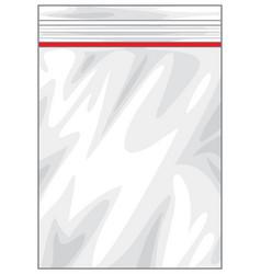 plastic zipper lock bag vector image vector image