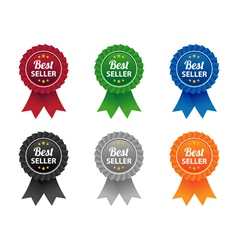 Bestseller labels vector