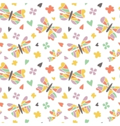 Butterfly seamless patterns vector image