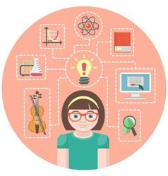 Genius Girl Concept vector image vector image