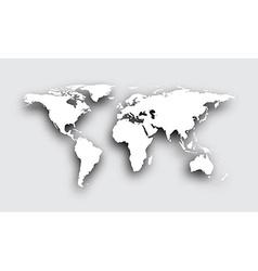 Gray 3d world map vector image