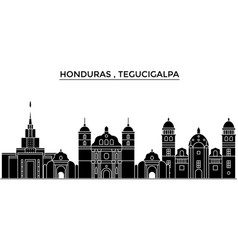 honduras tegucigalpa architecture city vector image