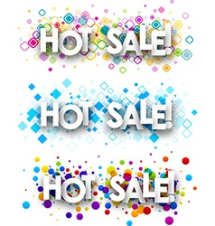 Hot sale colour banners vector