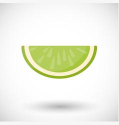 lime segment flat icon vector image