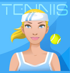 young woman tennis player avatar sport active vector image