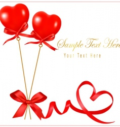 card with valentine background copy vector image vector image