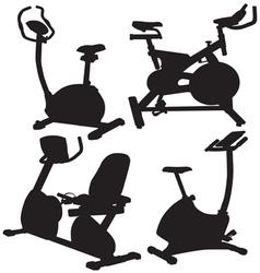 Fitness bike vector