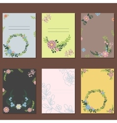 Floral wreath card decoration vector image vector image