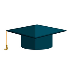hat graduation isolated icon vector image vector image