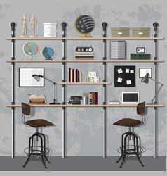 Home office modern vector