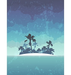 island with palms vector image
