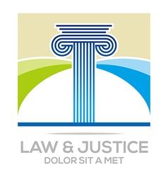 Logo Law Building and Justice Icon vector image vector image