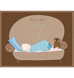 newborn baby card vector image vector image