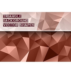 Red Triangles vector image vector image