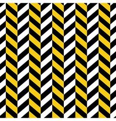 seamless pattern yellow black geometric vector image