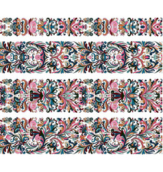 set of vintage border brushes templates baroque vector image